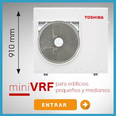 agua caliente y calefacción para edificios - mini VRF Toshiba