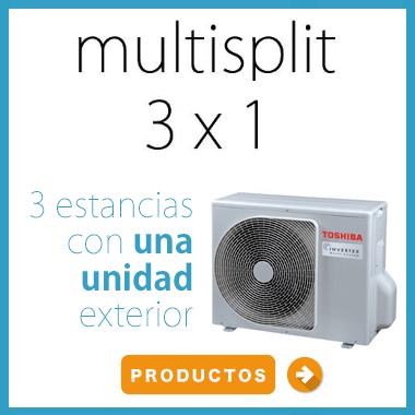aires acondicionados multisplit 3x1