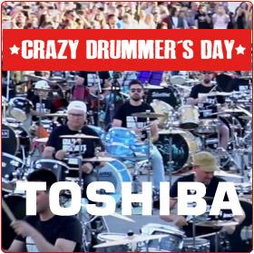 Toshiba patrocinador oficial del crazy drummers day