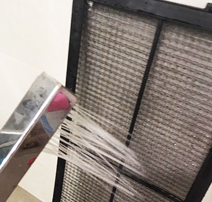 limpieza de filtro de aire acondicionado centralizado