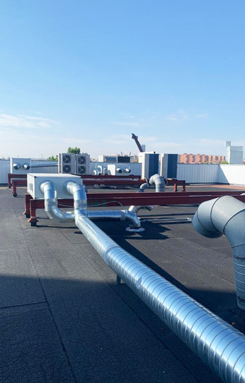 instalación de una climatización industrial Toshiba