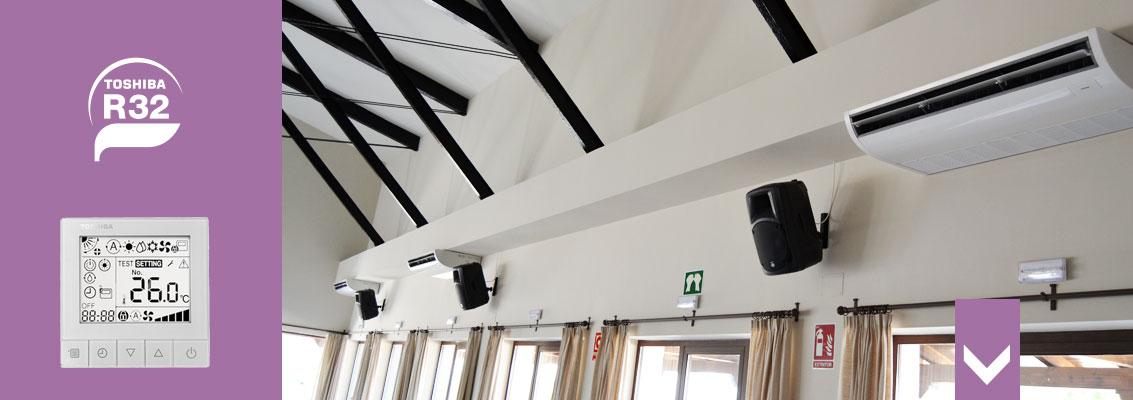 aire acondicionado de techo para comercios