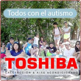Patrocinio de Todos contra el autismo de Toshiba Aire acondicionado